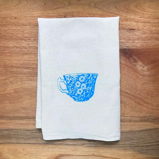 Tea Cup Kitchen Towel