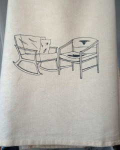 Chairs Dish Towel