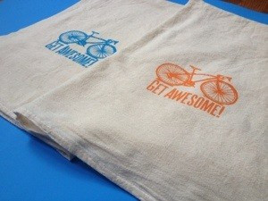 AIDS Lifecycle Dish Towel