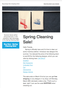 Click the image for details on the spring cleaning sale!