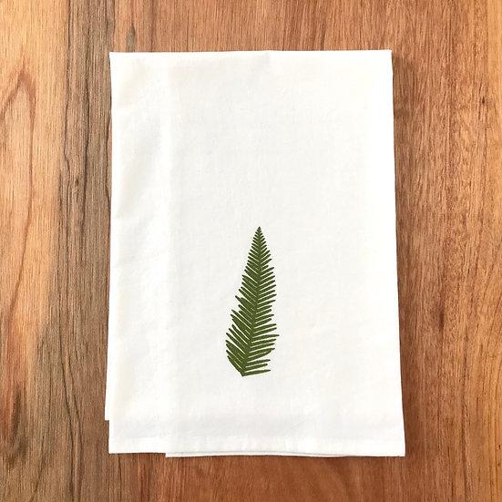 Umbrella Fern Dishtowel - San Francisco Flour Sack Dish Towel
