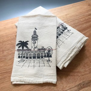packaged ferry building dish towels