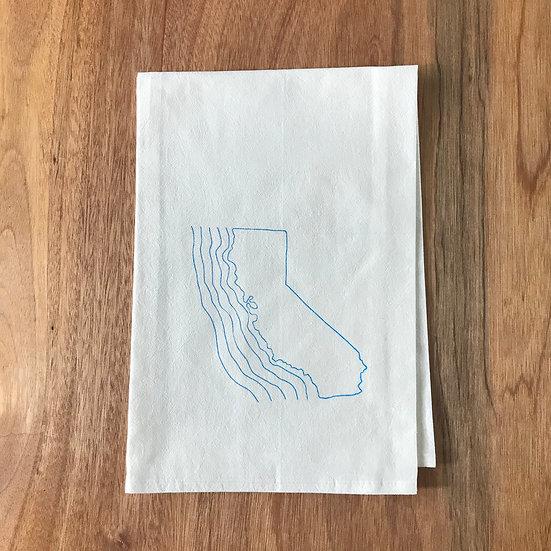 California Dishtowel - Flour Sack Dish Towel