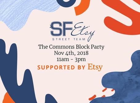 SF Etsy Civic Center Commons Block Party November
