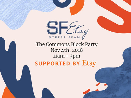 SF Etsy Civic Center Commons Block Party November