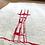 sutro tower dish towel