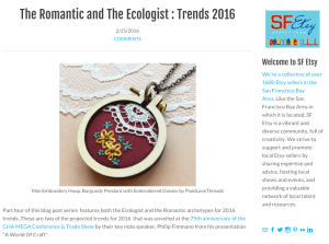 Trends 2016! SF Etsy Shout-Out