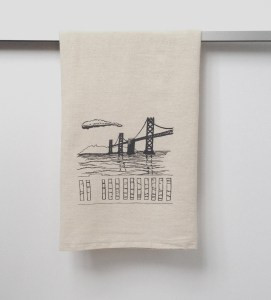 Bay Bridge Dish Towel Ready To Go!