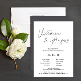 INVITATIONS - Black and White