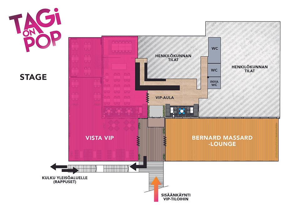 TAGi on POP VIP-alueen kartta