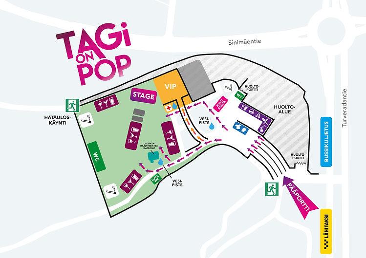 TAGi on POP aluekartta, 11.6.2021