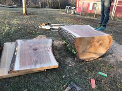 4 ft wide Oak slabs