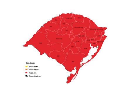 Governo gaúcho determina bandeira vermelha para todas as regiões até 10 de maio