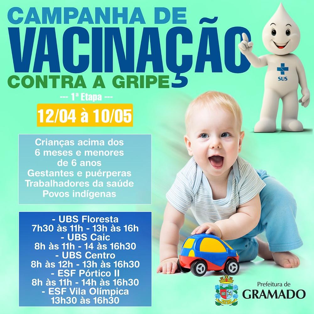 A campanha nacional iniciou em 12 de abril e das 2.691 crianças aptas a receber o imunizante, apenas 1.161 compareceram aos postos de vacinação, o que representa 43,14% do público-alvo.