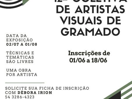 12ª Coletiva dos Artistas Visuais de Gramado acontecerá em julho