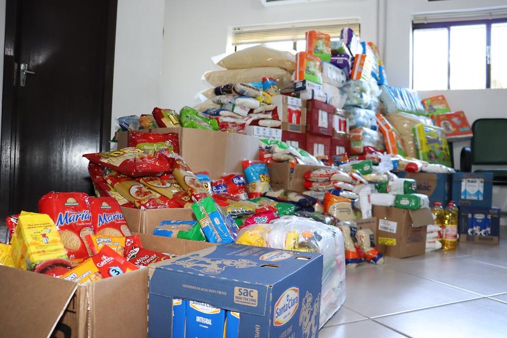 Com 21 equipes participantes, a iniciativa contou com a doação de 3112 kg de mantimentos e 144 pacotes de fraldas