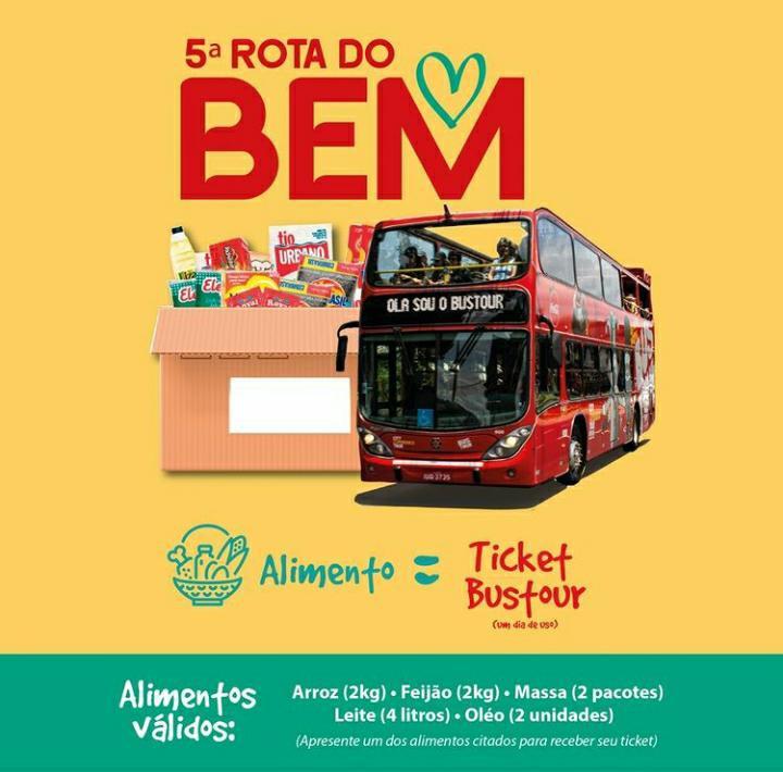 """Ao todo, a 5ª edição da """"Rota do Bem"""" realizada através de passeios do Bustour arrecadou 700 quilos, que foram divididos igualmente entre as cidades de Gramado e Canela."""