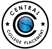 College Placement black blue and white b