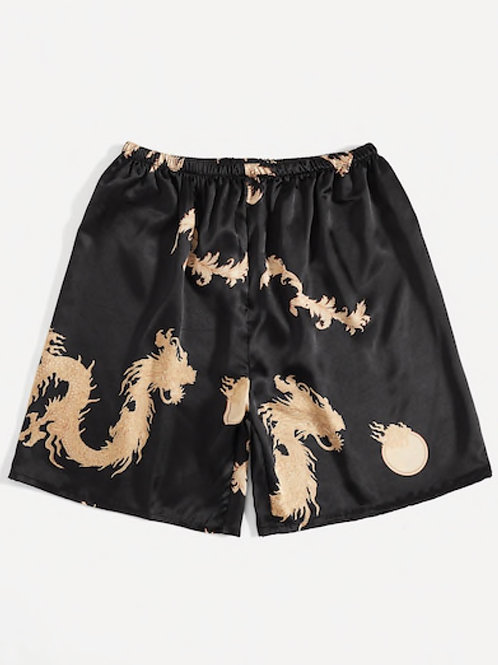 Men's Dragon Print Saint Shorts