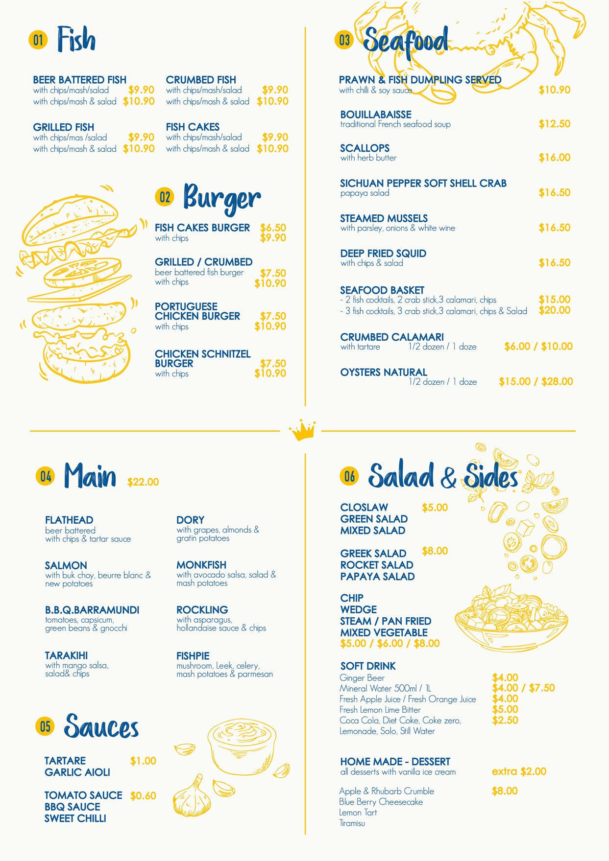 Click to enlarge the menu.