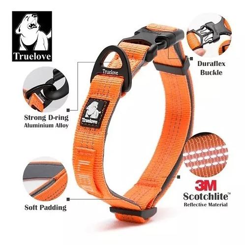 Collar Para Perro Nylon Ajustable Reflactario Truelove
