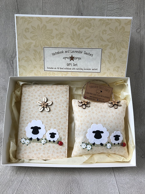 Sheep Gift Set - Including A6Notebook and Lavender Sachet