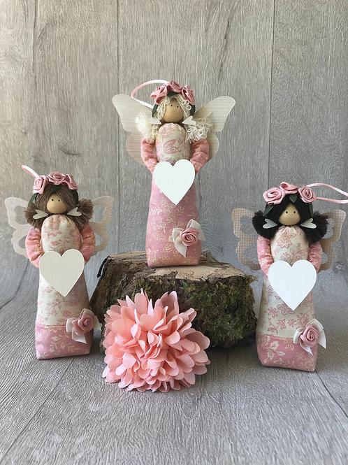 Medium Pink Floral Angels