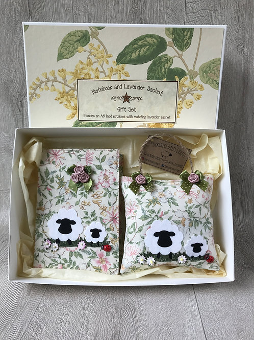Sheep Gift Set - Including A6 Notebook and Lavendersachet