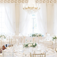 Reception flowers, floral table centres