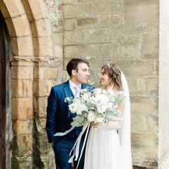 Romantic wedding in Cuckfield church