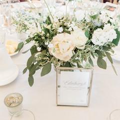 Pretty romantic wedding flowers