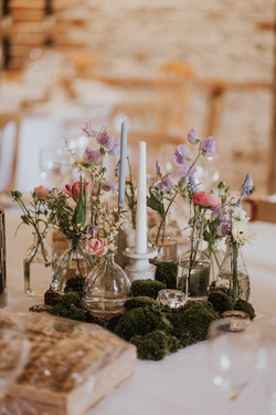table centre at upwaltham barns