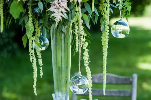 Hanging Glass Bauble Tealight Holders