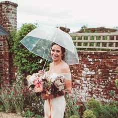 Brides bouquet with peonies
