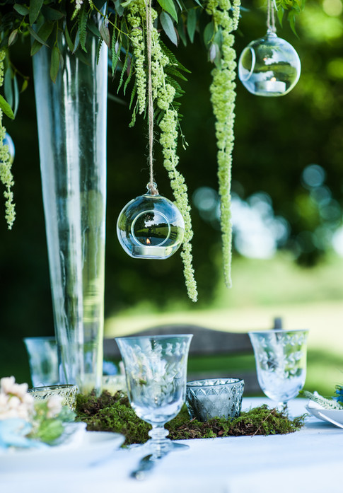 Hanging Glass Baubles For Tealights