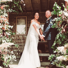 Ceremony flowers, wedding ceremony floral decor, pmapas grass wedding decor