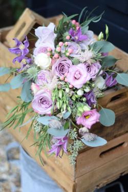 blush dusky pinks shower bouquet