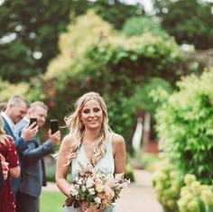 Minty green bridesmaids dress, bridesmaids bouquet, bridesmaids flowers