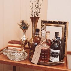 Boho Wedding Styling Drinks Station