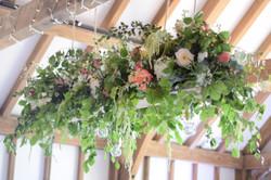 luxury flower hanging installation