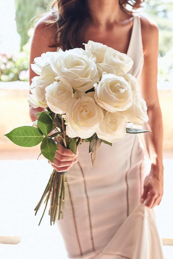 Modern Round Wedding Bouquet