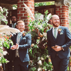 Ceremony floral decor with pampass grass
