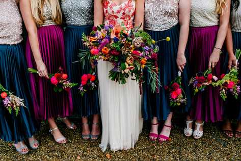 Vibrant Hand Tied Bridesmaid Bouquets