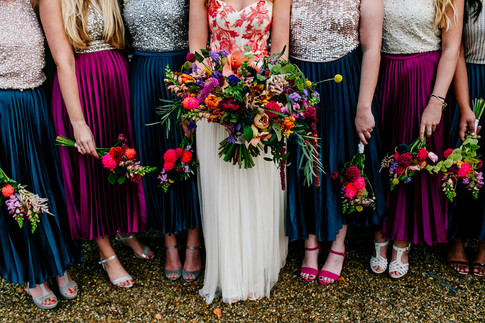 Vibrant Hand Tied Bridesmaid Bouquets
