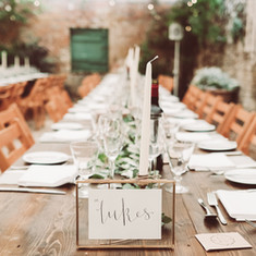 trestle table wedding ideas, long wedding table flowers ideas