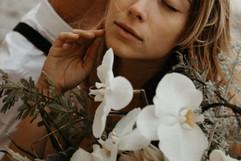 orchid boho bouquet, alternative bride flowers