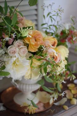 Summer wedding floral centre
