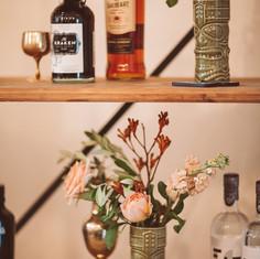Gin Station, Boho Wedding at Bignor Park
