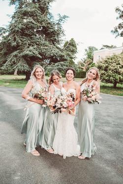 muted colour palette wedding bouquet