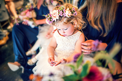 Flower Girl with Floral Crown Hairstyle